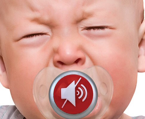 Mute Button Pacifier | Cool Mom Tech
