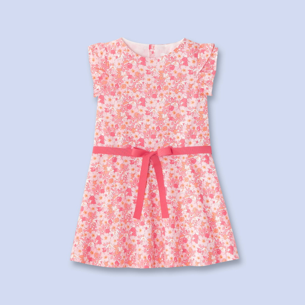 Easter Dresses for Girls: Liberty print pink floral dress