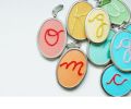 mother's day gift: personalized embroidered initial necklace | cool mom picks