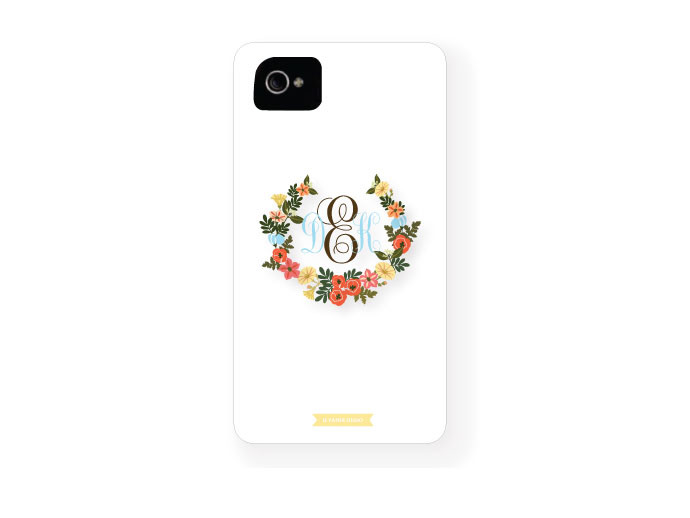 mother's day gift: personalized monogrammed iphone case  | cool mom picks