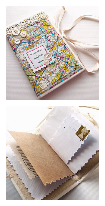Travel journals for kids: Personalized map journal by Nellie Elsie