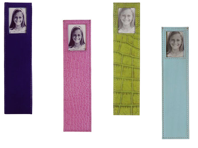 mother's day gift: leather photo bookmark  | cool mom picks
