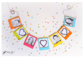 mother's day gift: diy mini photo frame banner  | cool mom picks