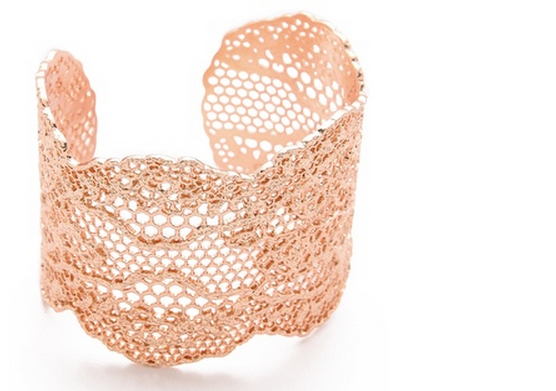 Rose gold lace cuff Aurelle Biderman