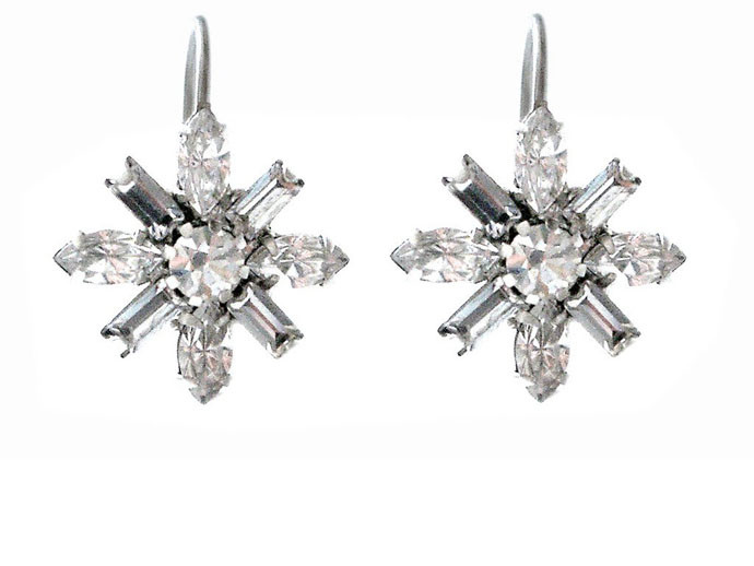 mother's day gift: elizabeth cole crystal floral earrings  | cool mom picks