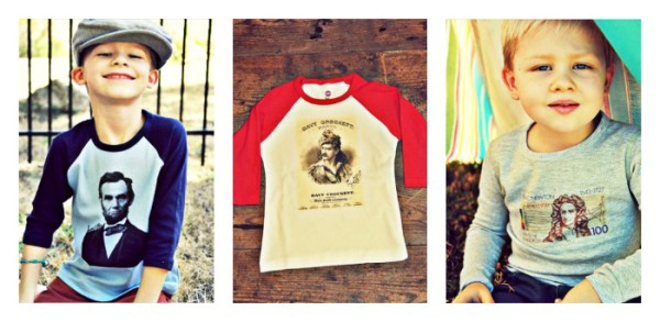 Historical shirts for kids at Wee Rascals
