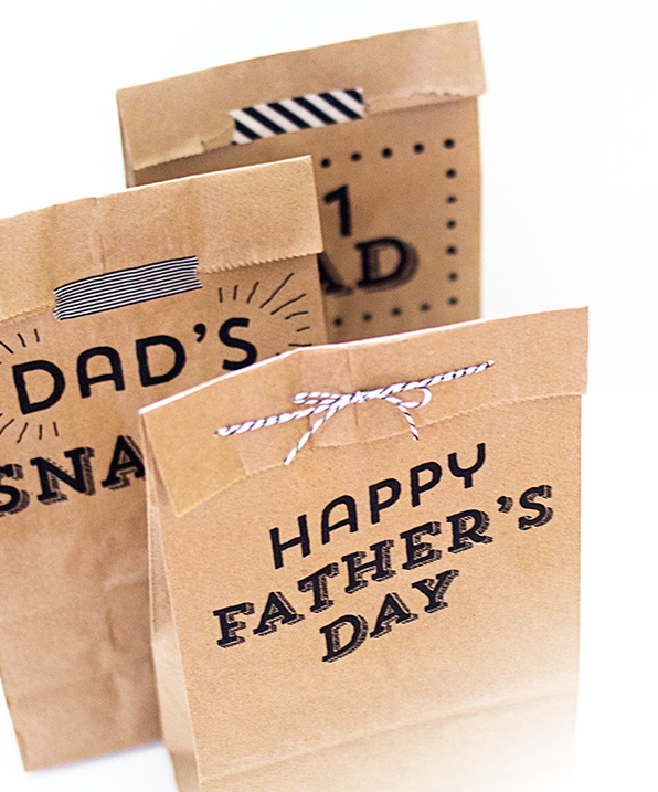 DIY printable bags for Father's Day by Sara Hearts