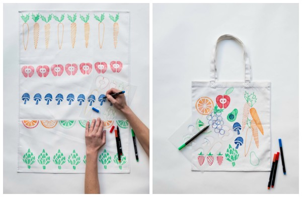Cool stencils for kids by Yellow Owl Workshop: Market theme | Cool Mom Picks