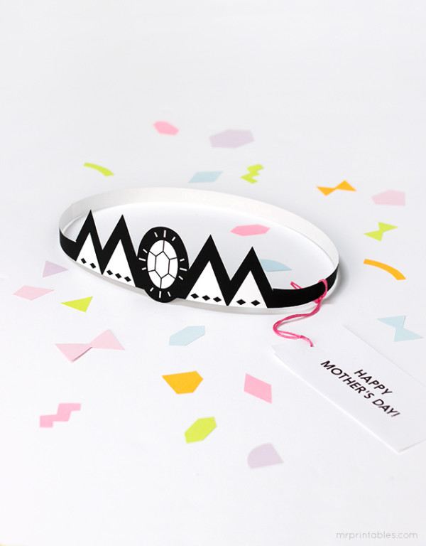 Printable Mother's Day Crown by Mr. Printables via Cool Mom Picks