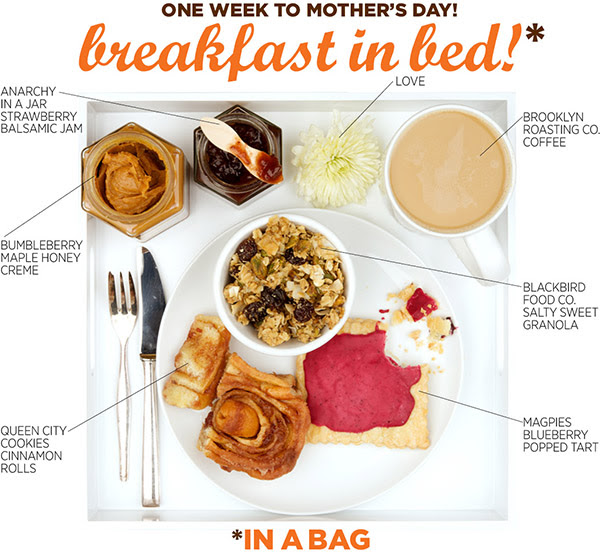Mother's Day food gift idea - Mouth.com breakfast in bed in a bag