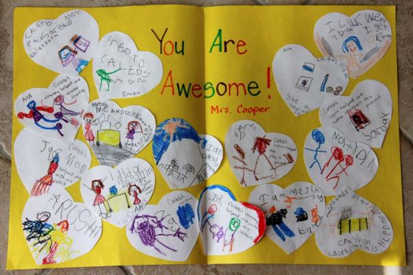 Teacher Thank You card at Ladybug Designs | Cool Mom Picks
