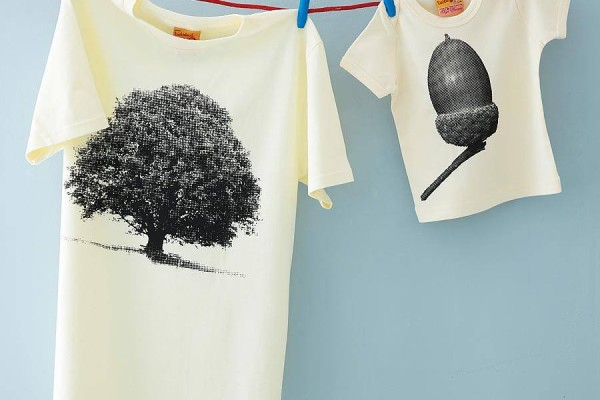 Cool daddy and me shirts for Father's Day featuring acorn and oak tree
