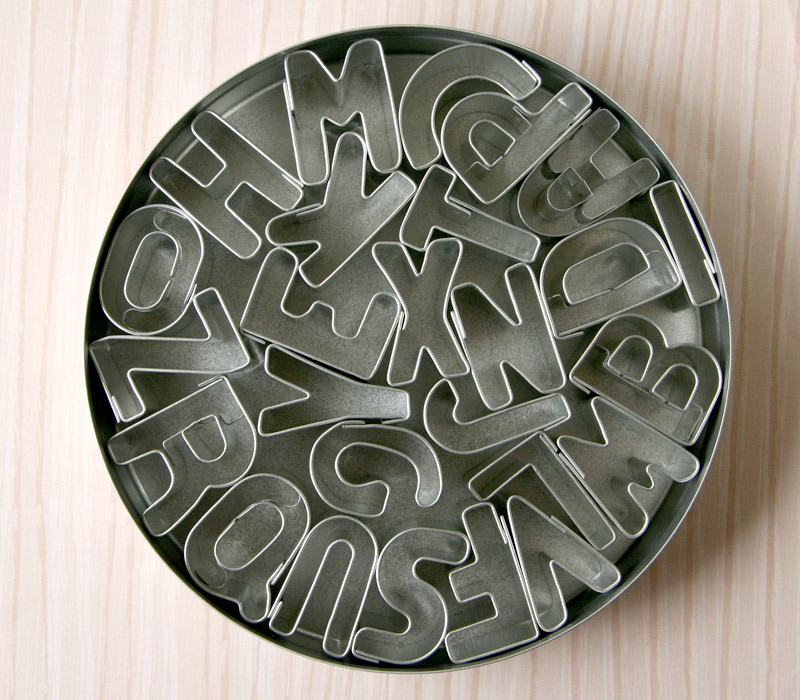 Mini alphabet cookie cutters via Cool Mom Picks great.ly shop