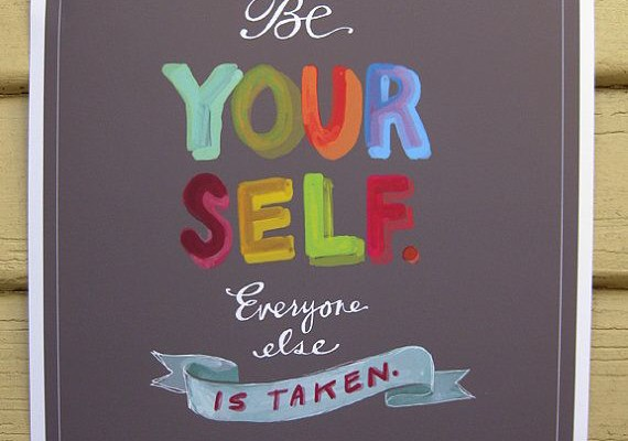 Be Yourself - Oscar Wilde print by Emily McDowell