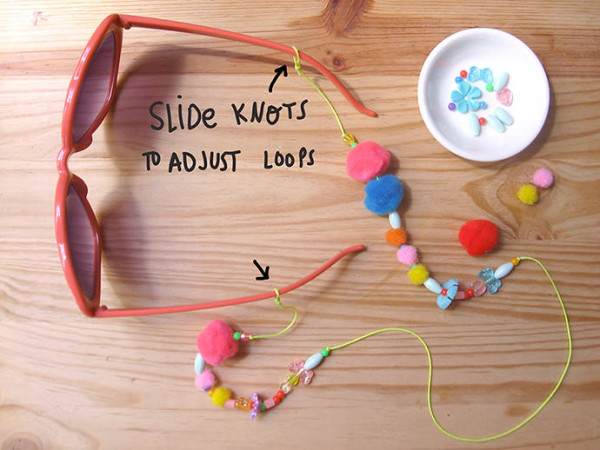 DIY eyeglass chain necklace for kids via Handmade Charlotte