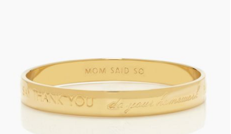 """Mom Said So"" bracelet from Kate Space on Cool Mom Picks"
