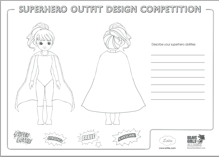 Lottie doll superhero costume design contest