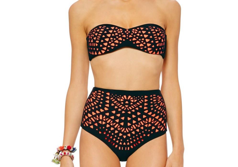 Mara Hoffman bandeau high-waisted bikini | Cool Mom Picks