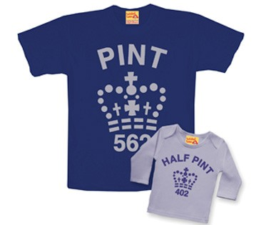 Pint/half-pint Daddy and Me shirts at Twisted Twee