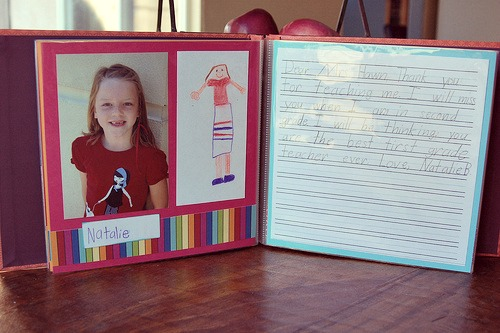 Teacher appreciation scrapbook | Cool Mom Picks