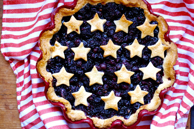 Fourth of July Blueberry Pie Recipe
