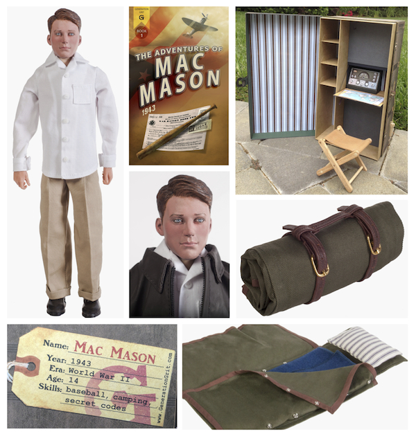 Generation Grit: Mac Mason retro inspired action figure