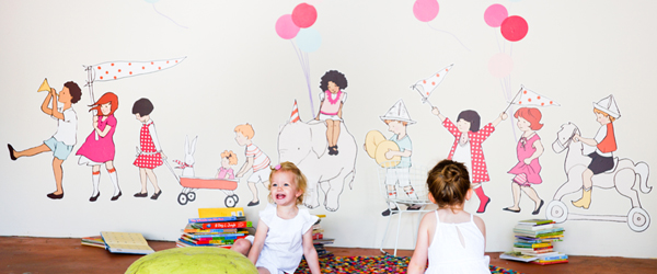 Sarah Jane On Parade wall decals for Pop and Lolli