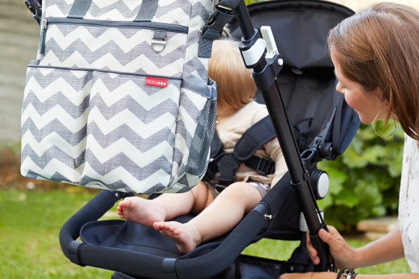 Skip Hop Duo Signature Diaper Bag in Chevron | Cool Mom Picks