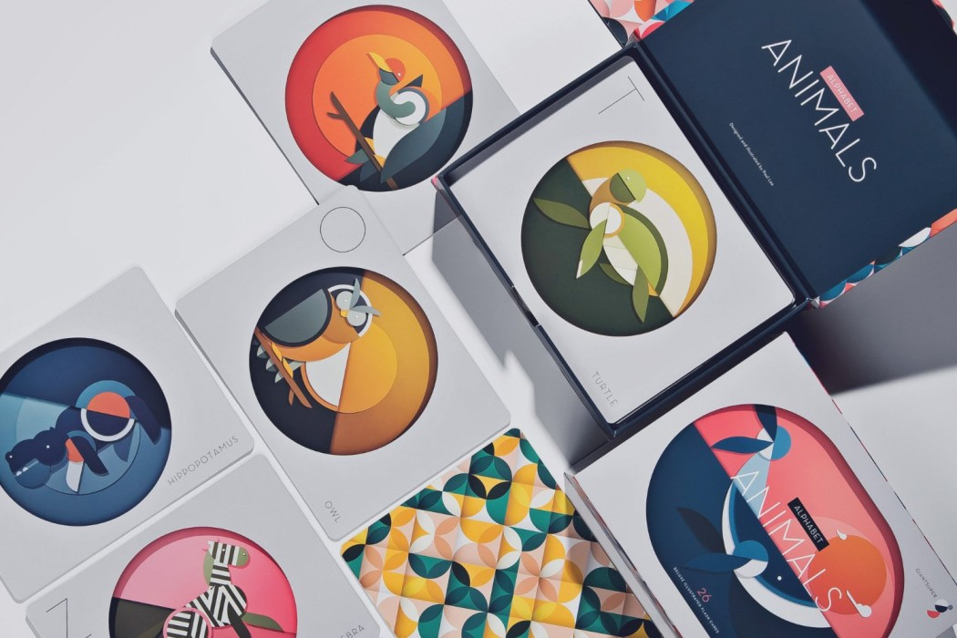 Modern animal alphabet flash cards - Paul Lee and Giantsuper | Cool Mom Picks