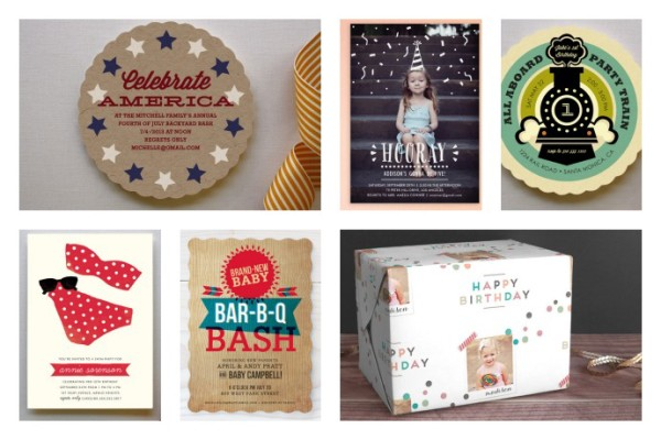 Cool custom invitations and other supplies for summer celebrations via Cool Mom Picks