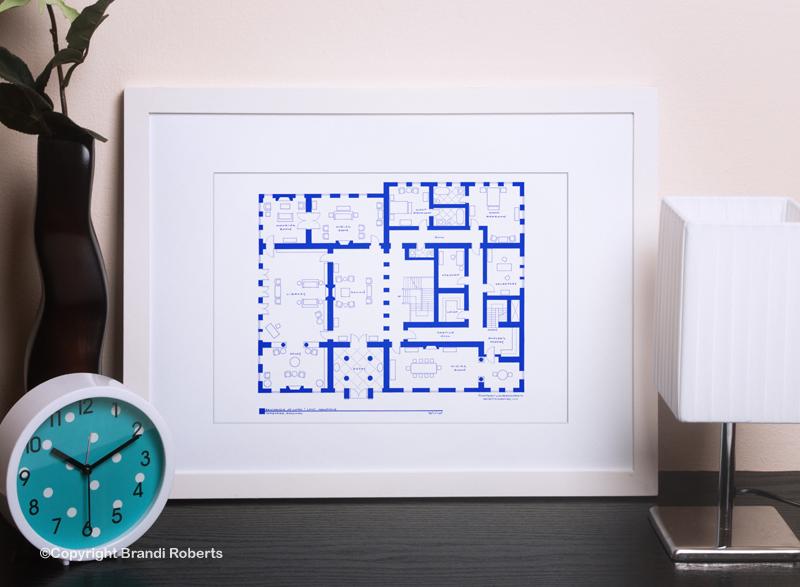 Downton Abbey floor plan art