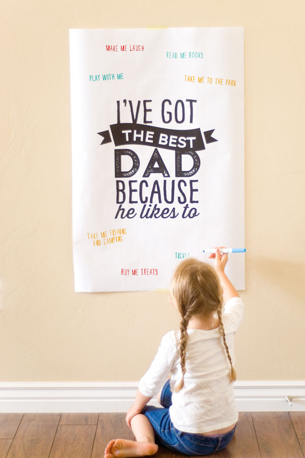 Father's Day free printable poster from Confetti Sunshine | Cool Mom Picks
