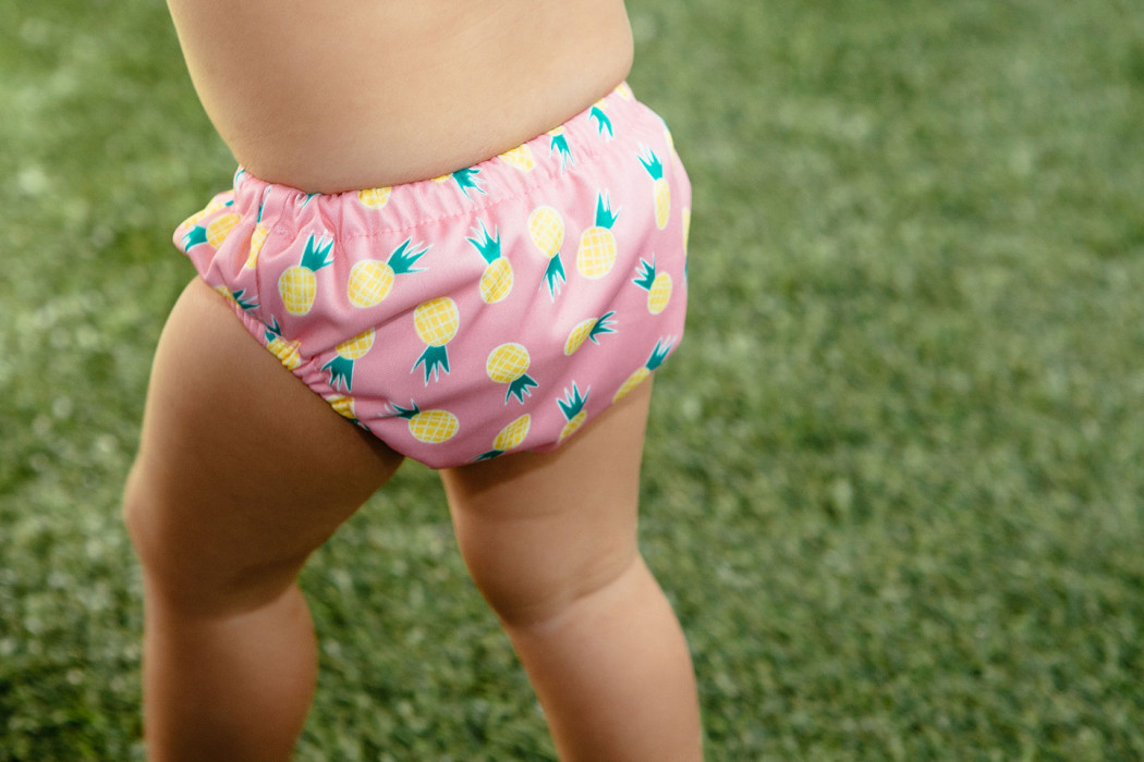 Honest Co Reusable Swim Diapers - pineapple design