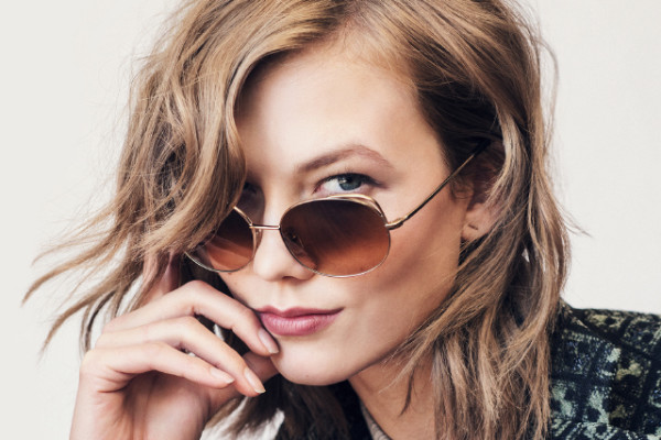 Karlie Kloss for Warby Parker sunglasses for a cause on Cool Mom Picks