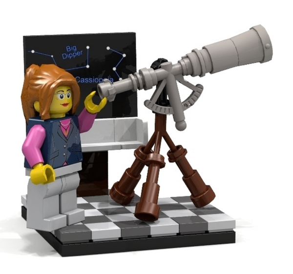 LEGO Female scientist minifigs via Cool Mom Tech