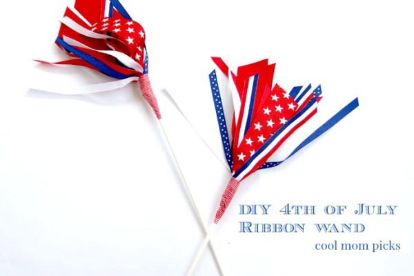 4th of July craft for kids: easy DIY ribbon wand instructions at Cool Mom Picks