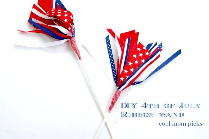 Cool 4th of July craft for kids: The ribbon wand takes the fire out of fireworks