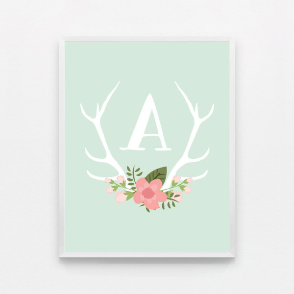 Monogram nursery art at Cool Mom Picks Great.ly shop