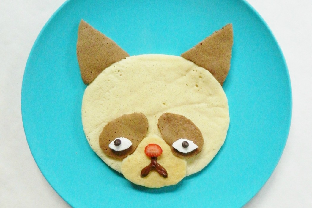 Grumpy Cat Pancake at Kitchen Fun with My Three Sons | Cool Mom Picks