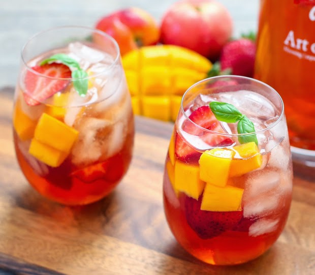 Iced Tea Sangria recipe from Kirbie's Cravings