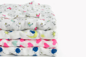 Aden + Anais plus J. Crew muslin blankets: A match made in baby layette heaven
