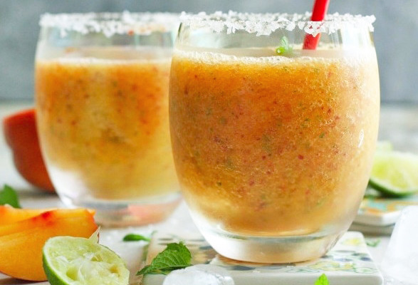 Naughty Peach Slushie recipe by Sneh Roy at The Boys Club