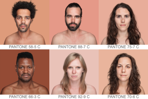 Pantone skin colors by Humanae on Tumblr