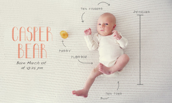 Creative birth announcement photo ideas | Important info from Sappy Apple