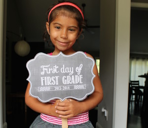 First Day of School printable at Oh So Printable | Cool Mom Picks