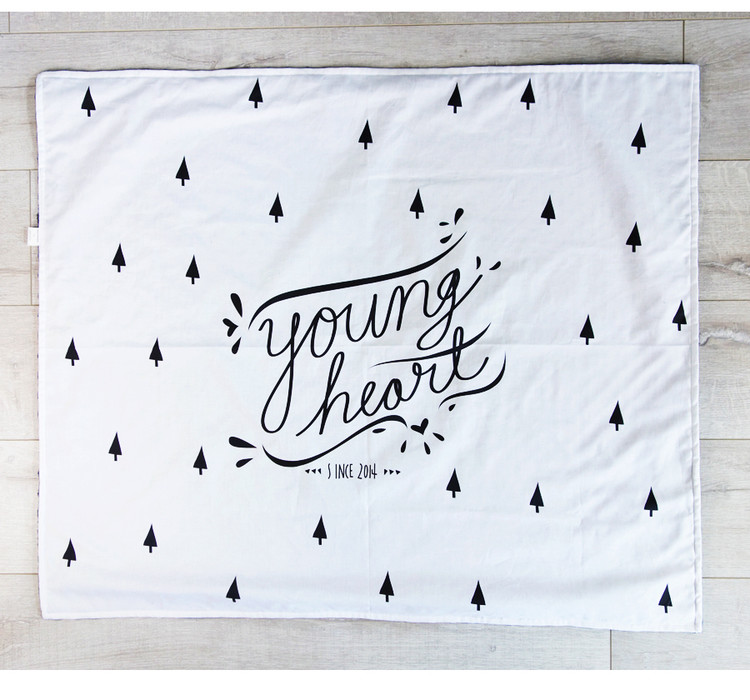 Young Heart toddler blanket - Designed by Artists | Cool Mom Picks