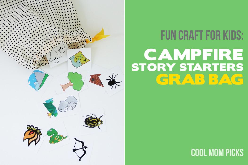 DIY craft for kids: Story starters grab bag with free printables on coolmompicks.com