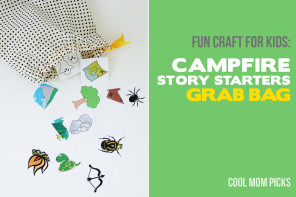 Fun summer craft for kids:  Story starters grab bag, with free printable artwork