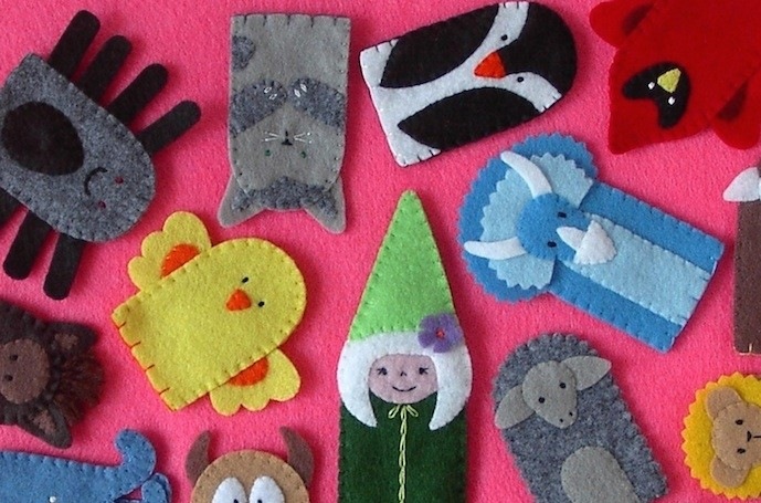 Creative stocking stuffer ideas: Finger puppets