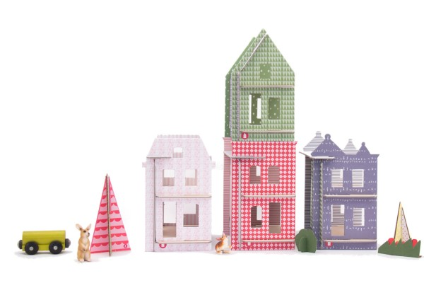 Lille Huset DIY dollhouse city at the Cool Mom Picks indie shop